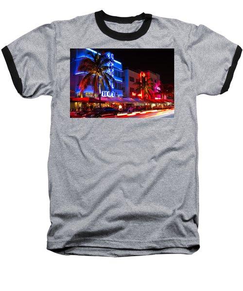 Miami Beach Ocean Drive Baseball T-Shirt