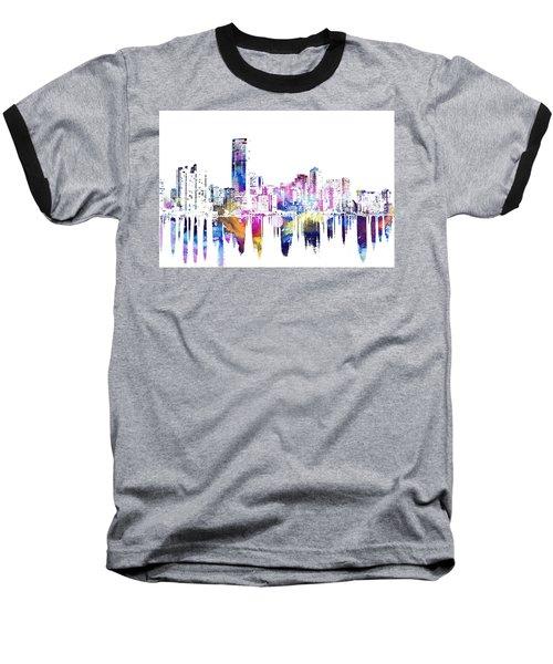 Miami Skyline Baseball T-Shirt