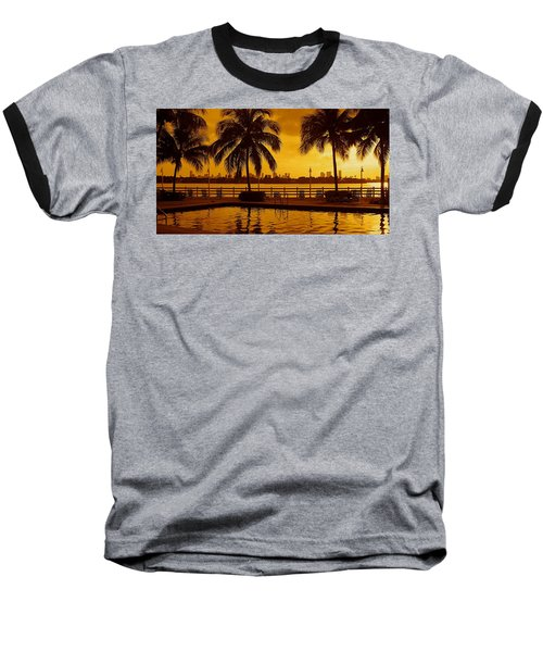 Miami South Beach Romance Baseball T-Shirt