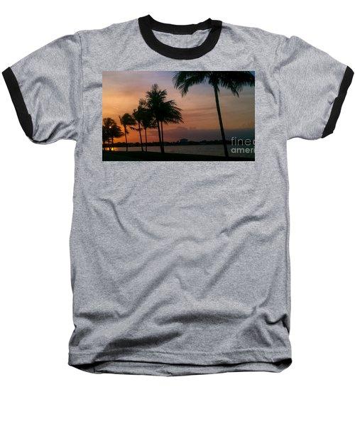 Miami Sunset Baseball T-Shirt