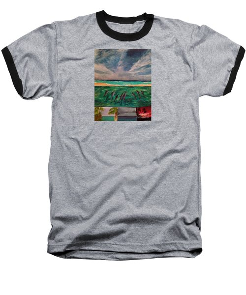 Baseball T-Shirt featuring the painting Delfin by Vanessa Palomino