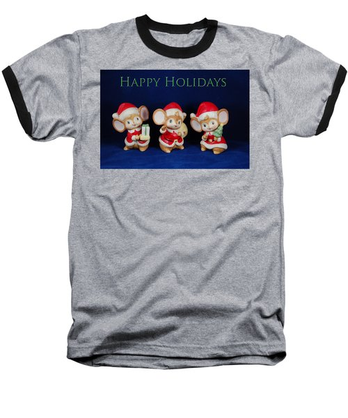 Mice Holiday Baseball T-Shirt