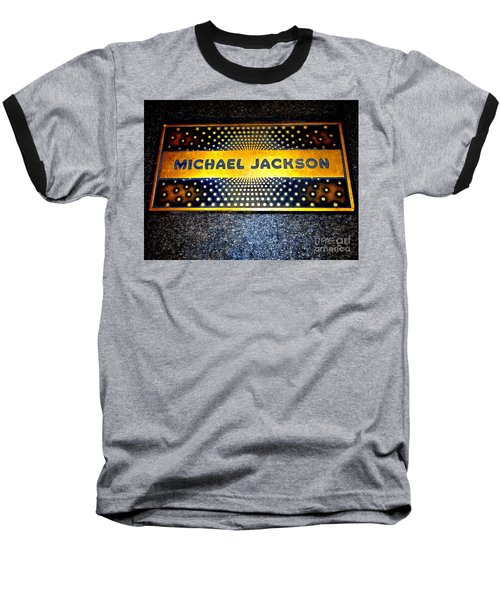 Michael Jackson Apollo Walk Of Fame Baseball T-Shirt by Ed Weidman