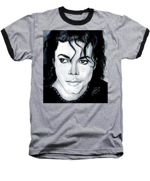 Michael Jackson Portrait Baseball T-Shirt