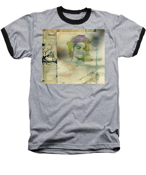 Michael Jackson Silhouette Baseball T-Shirt
