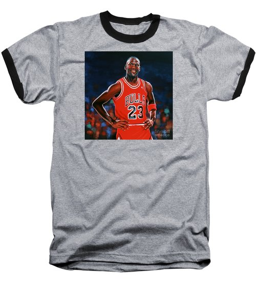Michael Jordan Baseball T-Shirt by Paul Meijering