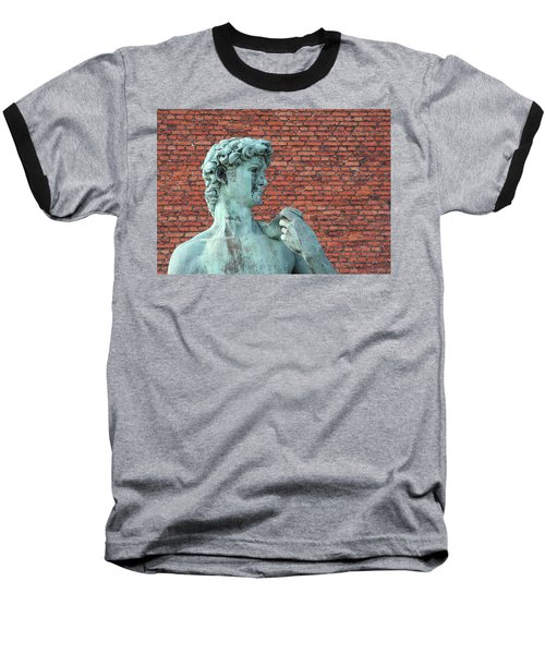 Michelangelos David Baseball T-Shirt