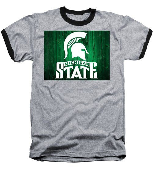 Michigan State Barn Door Baseball T-Shirt