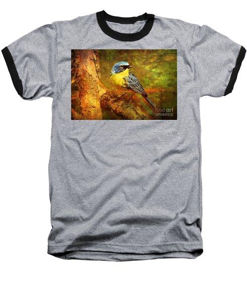 Michigans Rare Kirtlands Warbler Baseball T-Shirt