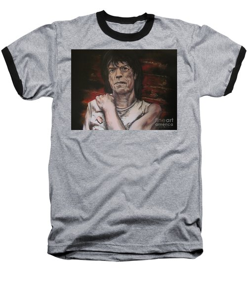 Mick Jagger - Street Fighting Man Baseball T-Shirt