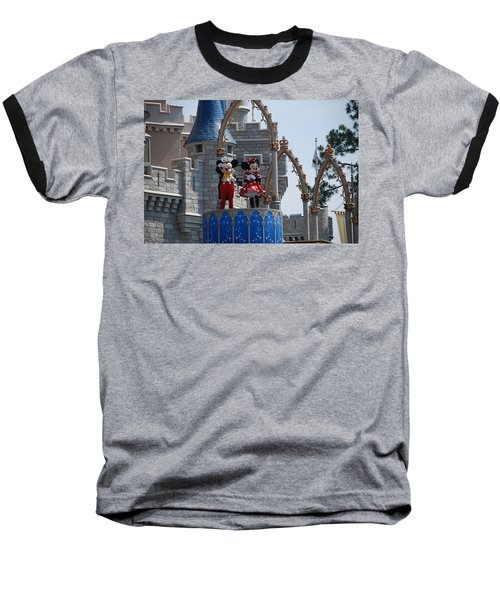 Mickey And Minnie In Living Color Baseball T-Shirt
