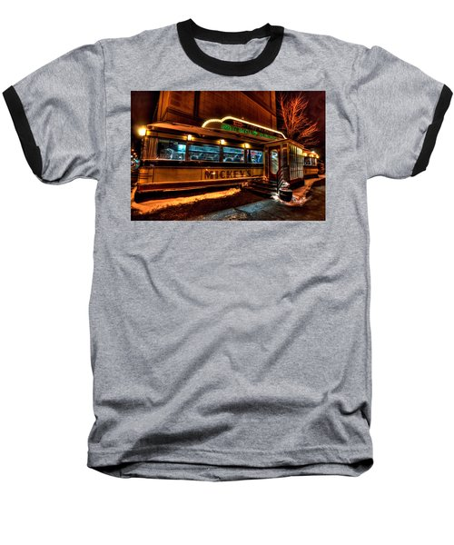 Mickey's Diner St Paul Baseball T-Shirt by Amanda Stadther