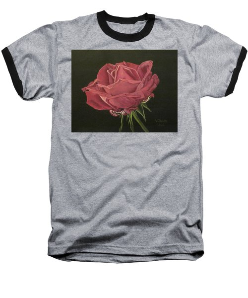 Baseball T-Shirt featuring the painting Mid Bloom by Wendy Shoults
