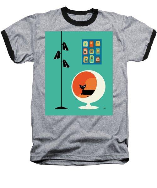 Mid Century Mini Oblongs Baseball T-Shirt