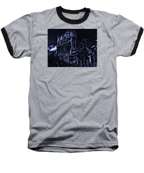 Midnight At The Tower Of Terror Baseball T-Shirt