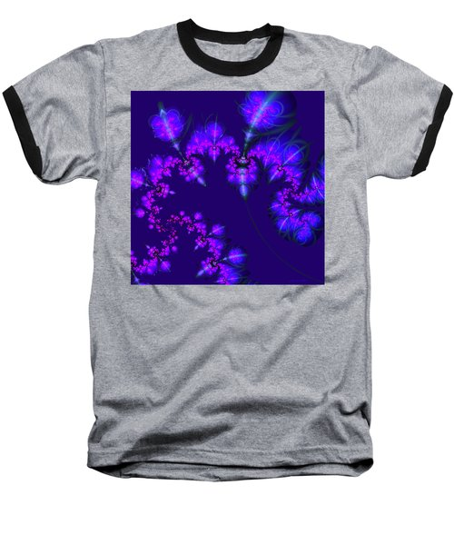 Baseball T-Shirt featuring the digital art Midnight Blossoms by Judi Suni Hall