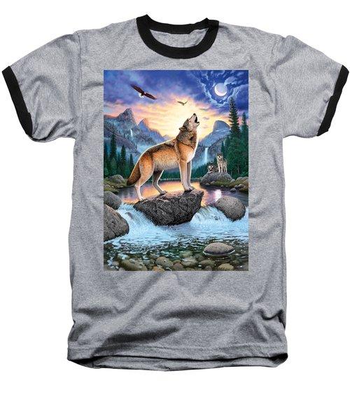 Midnight Call Baseball T-Shirt by Chris Heitt