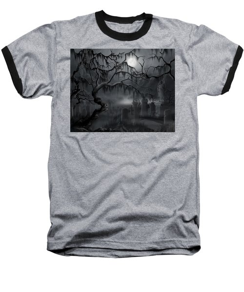 Midnight In The Graveyard  Baseball T-Shirt