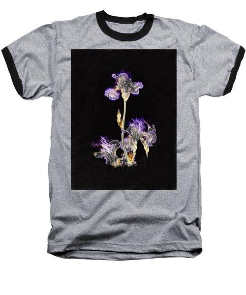 Midnight Iris Baseball T-Shirt