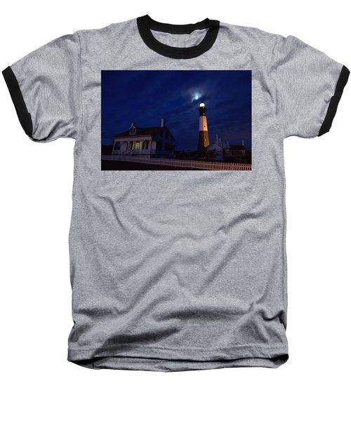Midnight Moon Over Tybee Island Baseball T-Shirt