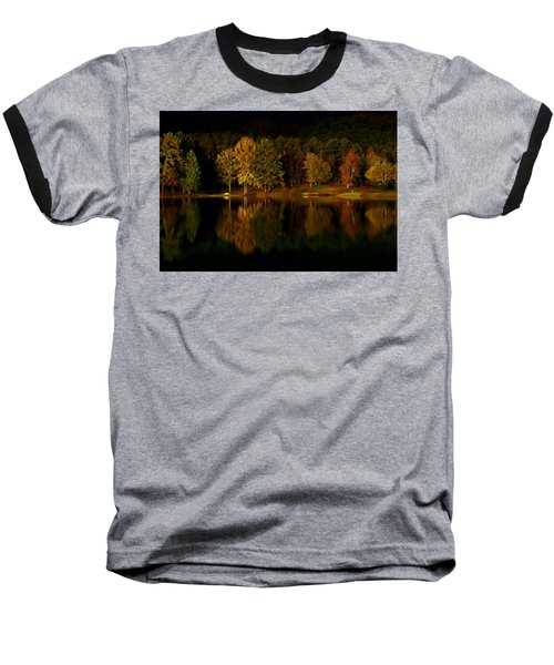 Midnight On The Lake Baseball T-Shirt