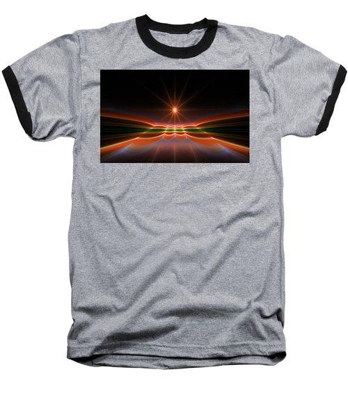 Midnight Sun Baseball T-Shirt by GJ Blackman