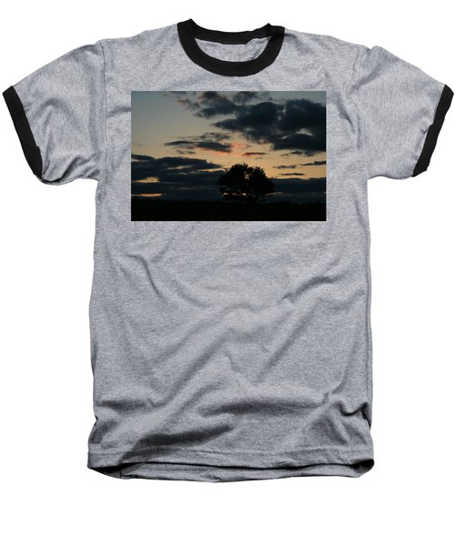 Farm Pasture Midnight Sun  Baseball T-Shirt by Neal Eslinger