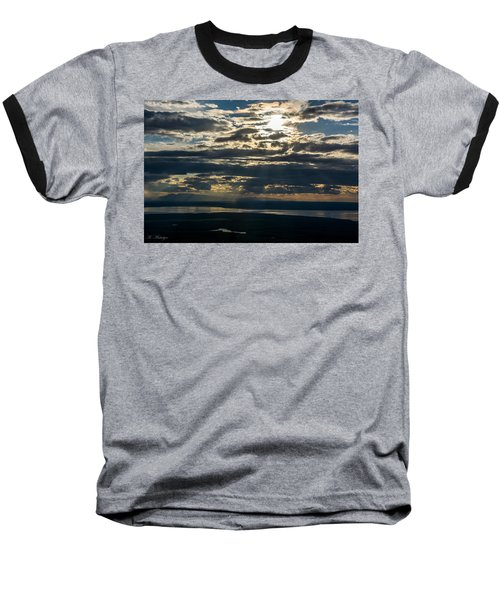 Midnight Sun Over Mount Susitna Baseball T-Shirt