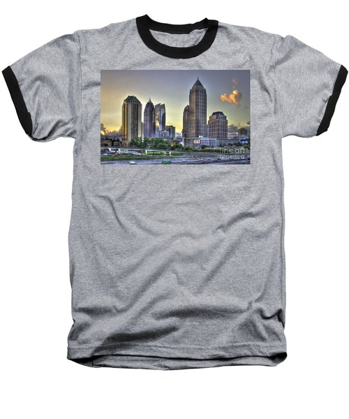 Midtown Atlanta Sunrise Baseball T-Shirt