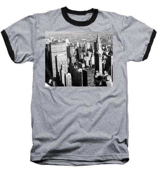 Midtown Manhattan 1972 Baseball T-Shirt