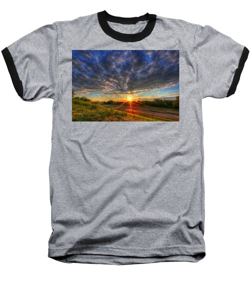 Midwest Sunset After A Storm Baseball T-Shirt