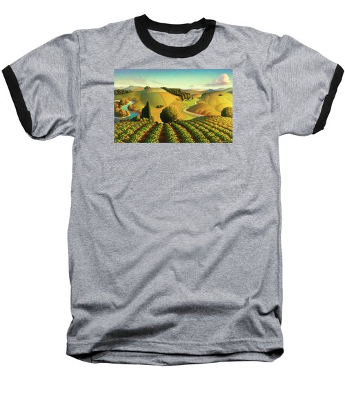 Midwest Vineyard Baseball T-Shirt by Robin Moline