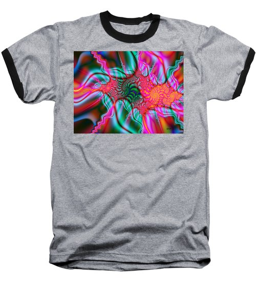 Baseball T-Shirt featuring the digital art Migraine by Elizabeth McTaggart