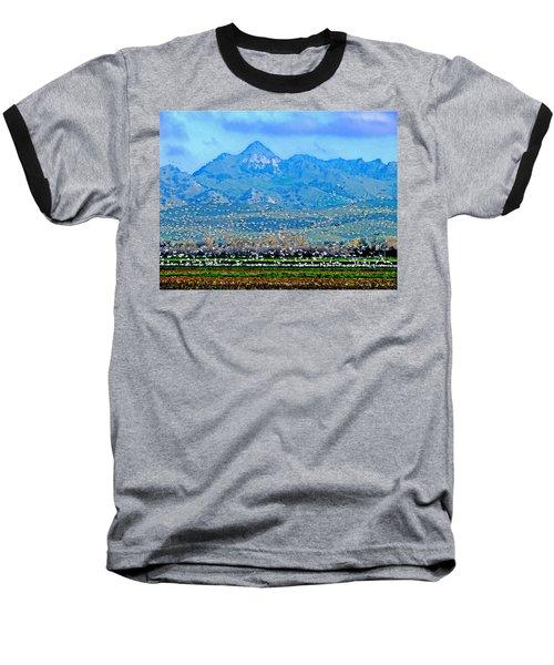 Migrating Birds Over Sutter Wilflife Refuge Baseball T-Shirt