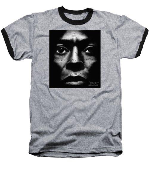 Miles Davis Tutu Baseball T-Shirt by Michael Cross