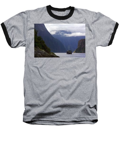 Milford Sound Baseball T-Shirt by Stuart Litoff