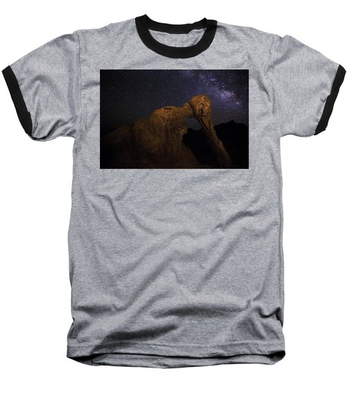 Milky Way Over The Elephant 2 Baseball T-Shirt