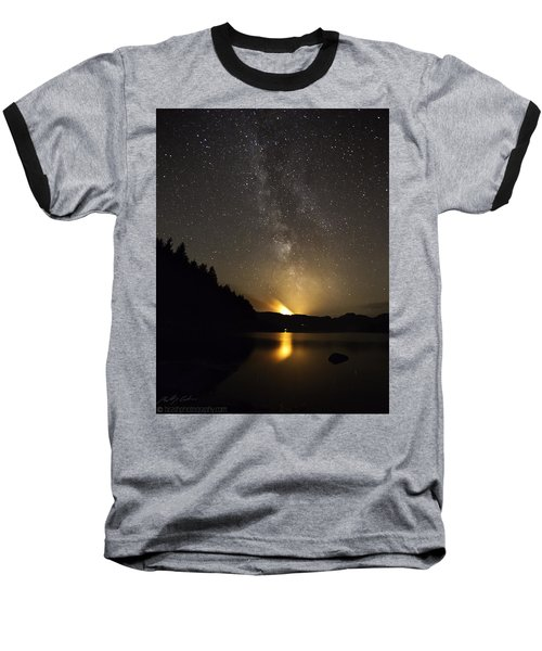 Milky Way At Crafnant 2 Baseball T-Shirt by Beverly Cash