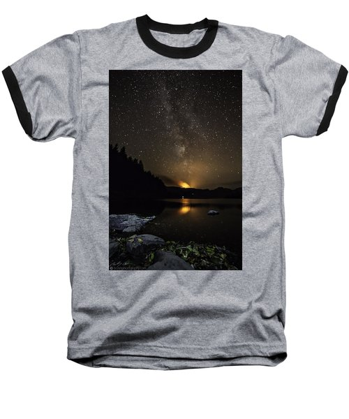 Milky Way At Crafnant Baseball T-Shirt by Beverly Cash