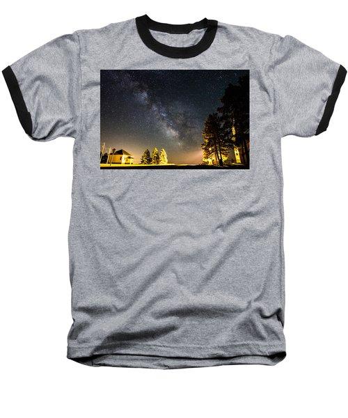 Milky Way From Oldham South Dakota Usa Baseball T-Shirt