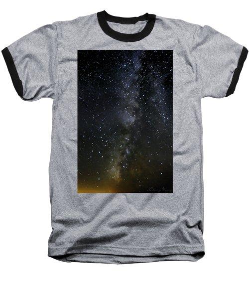 Milky Way Baseball T-Shirt by Marlo Horne
