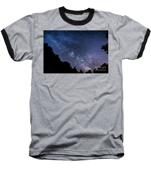 Milky Way Over Silver Springs Campground Baseball T-Shirt by Patrick Fennell
