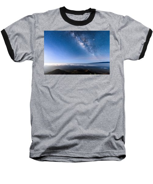 Milky Way Suspended Above Mauna Loa 2 Baseball T-Shirt