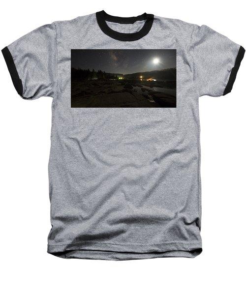 Milky-way Over Plasse's Resort - Silver Lake Baseball T-Shirt