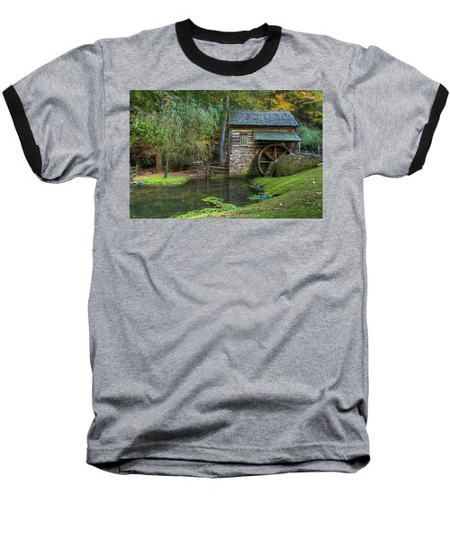 Mill Pond In Woods Baseball T-Shirt