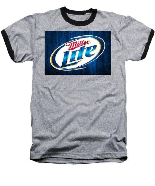 Miller Lite Barn Door Baseball T-Shirt