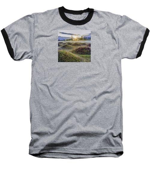 Mima Mounds Mist Baseball T-Shirt