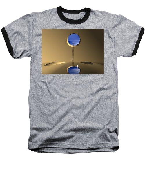 Baseball T-Shirt featuring the digital art Mind Well by John Alexander