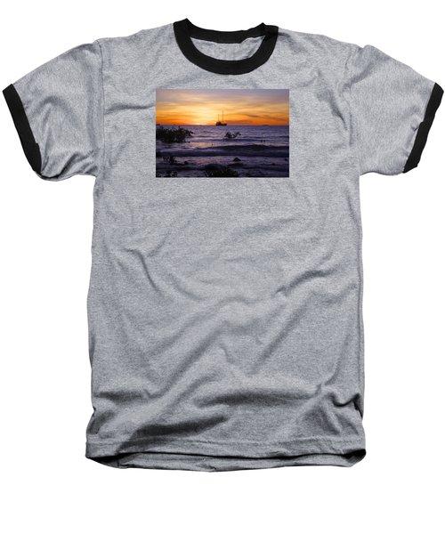 Mindil Beach Sunset Baseball T-Shirt by Venetia Featherstone-Witty