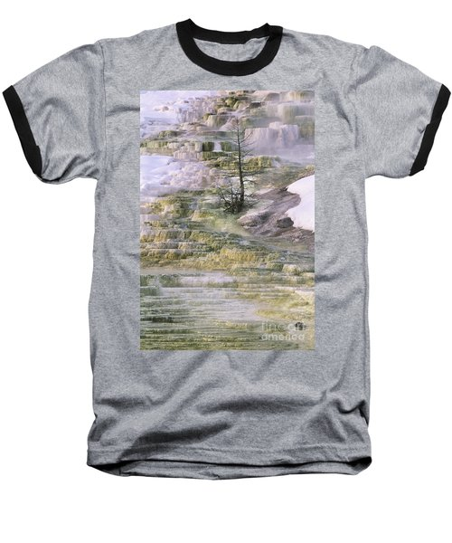 Baseball T-Shirt featuring the photograph Minerva Springs Terraces Yellowstone National Park by Dave Welling